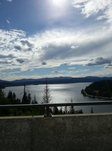 The beautiful Coeur d'Alene Lake