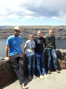 Overlooking the Columbia River and the Ginkgo Petrified Forest State Park