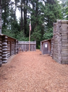 A replica of Fort Clatsop
