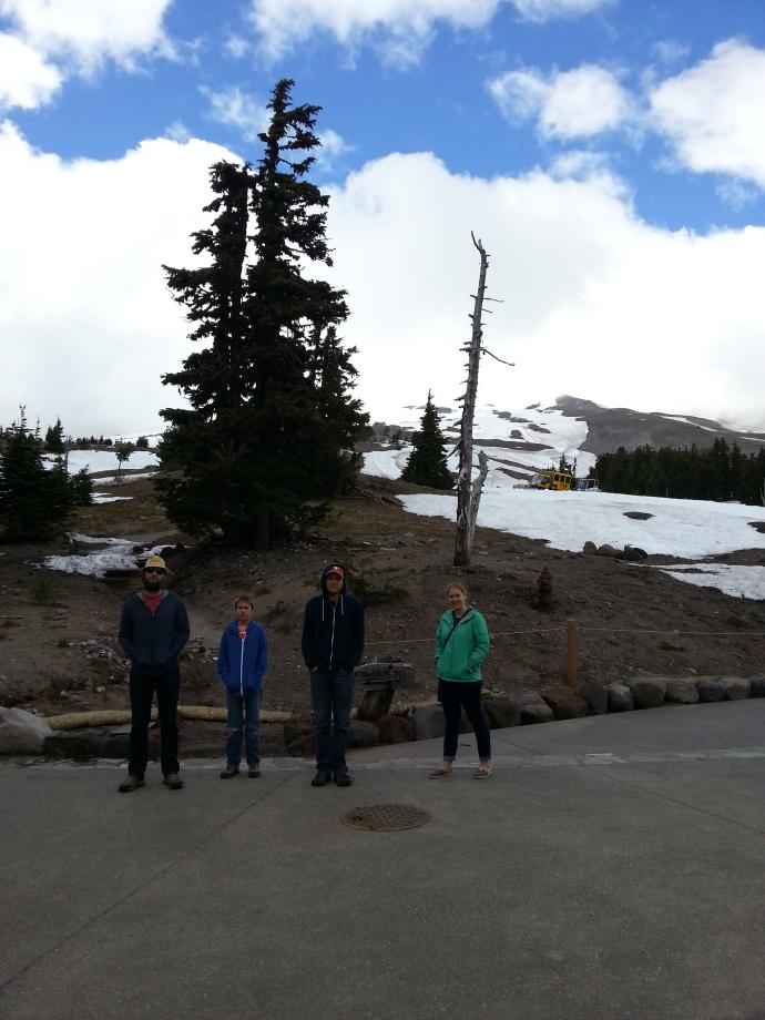 Cloud covered Mount Hood