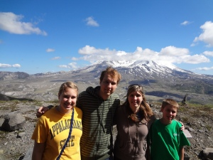 At the Mount St. Helens National Monument